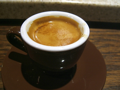 Espresso is best taken neat.