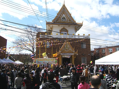 Songkran,or Thai New Year, is one of the most popular festivals iin Queens.