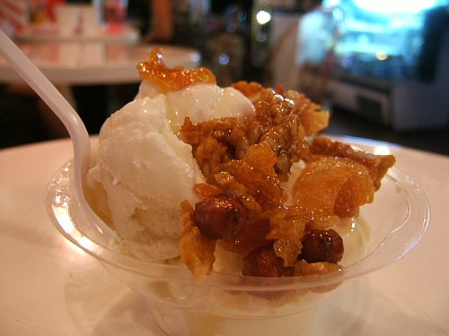 The crunchiest durian sundae ever.